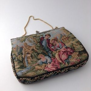 Vintage needlepoint tapestry purse